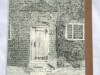 Packwood House Garden Oak Door detailed drawing by Louise Claire