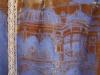 Cross dyed devore velvet Amber Fort print (Evening wrap)